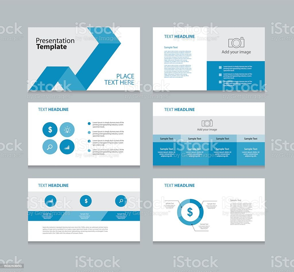 Page presentation layout design template with info graphic for Table layout design