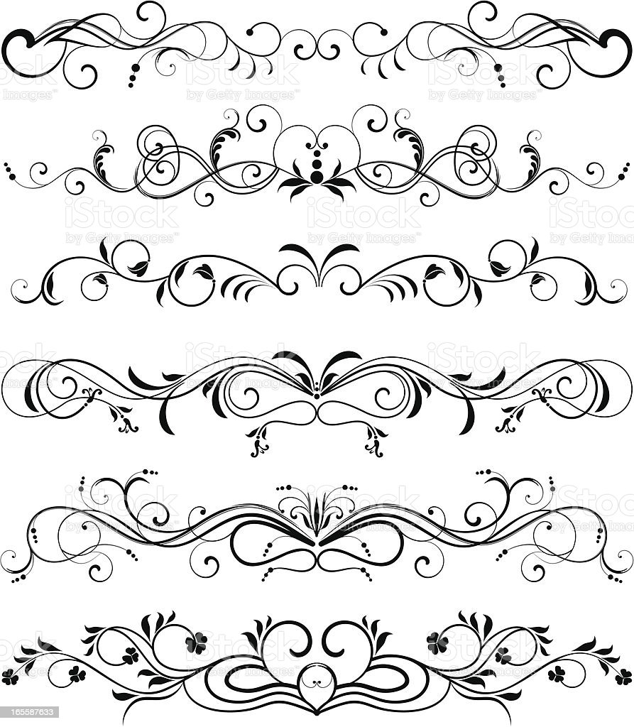 Page rules II royalty-free stock vector art
