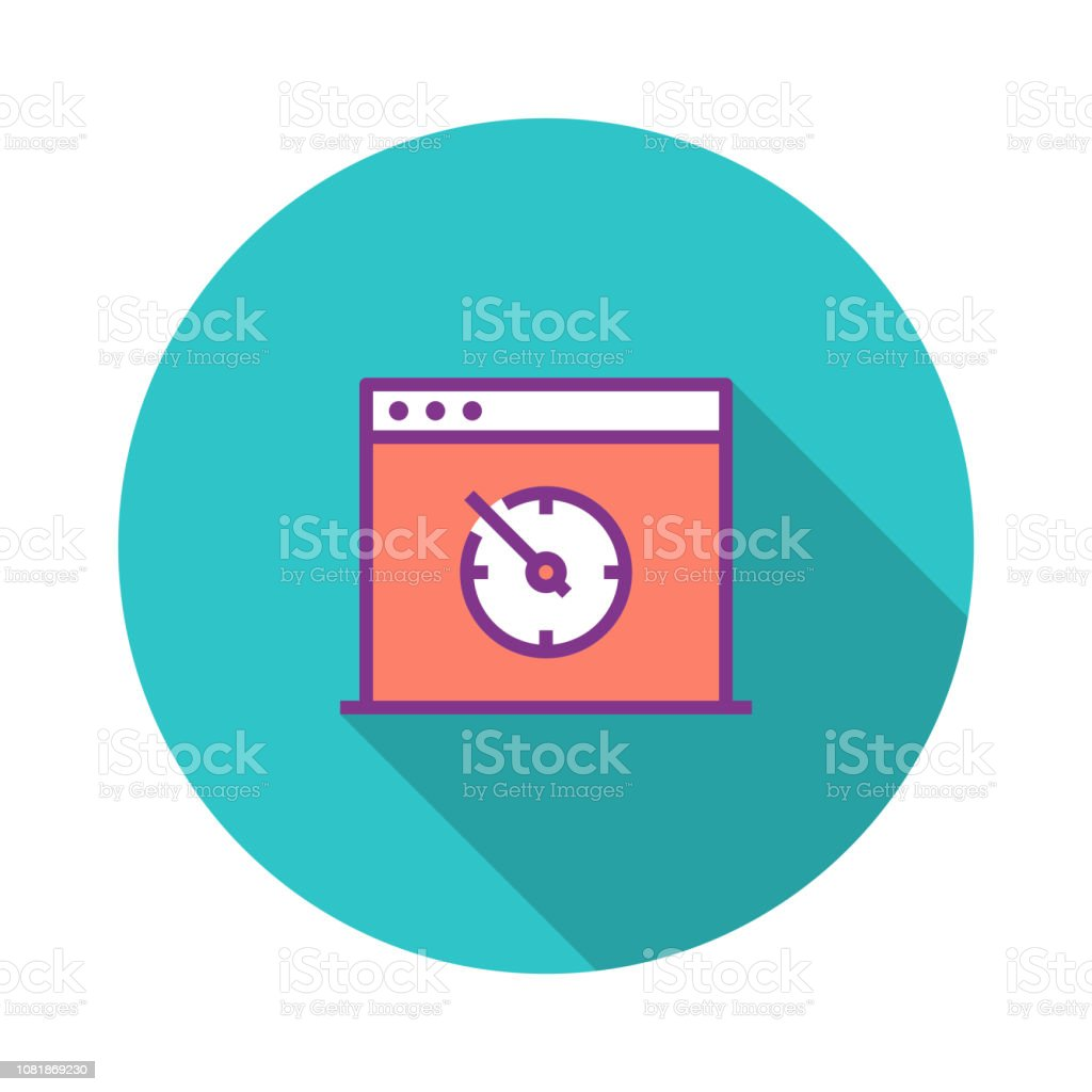 Page Speed Test Flat Icon Stock Illustration - Download