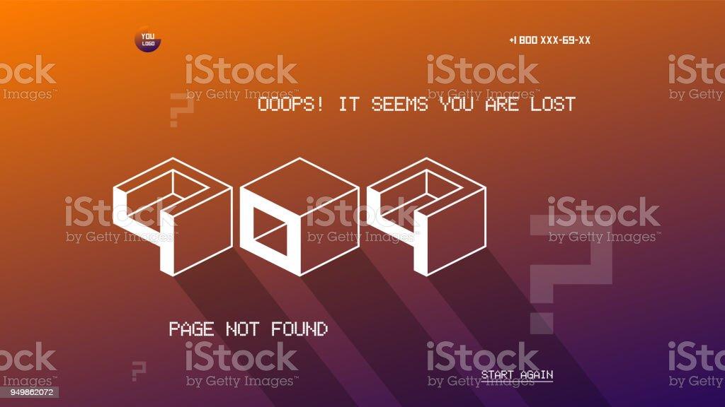 フラット図解404 ページ テンプレートフラットなデザイン ベクトルの