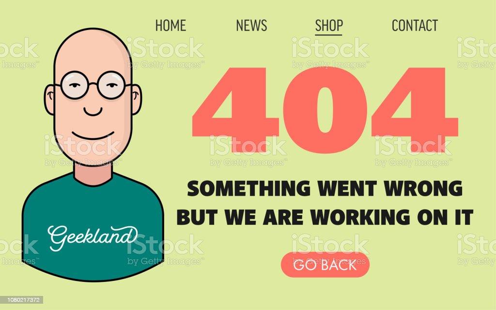 Plantilla de página 404 con Geek Tech tipo carácter - ilustración de arte vectorial