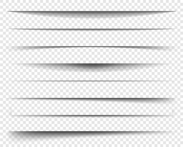 page vector divider set for website, interface, app etc. - тень stock illustrations