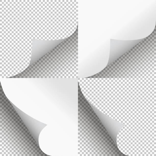 seiten curl setzen stilvolles illustrationsvektordesign - buchseite stock-grafiken, -clipart, -cartoons und -symbole