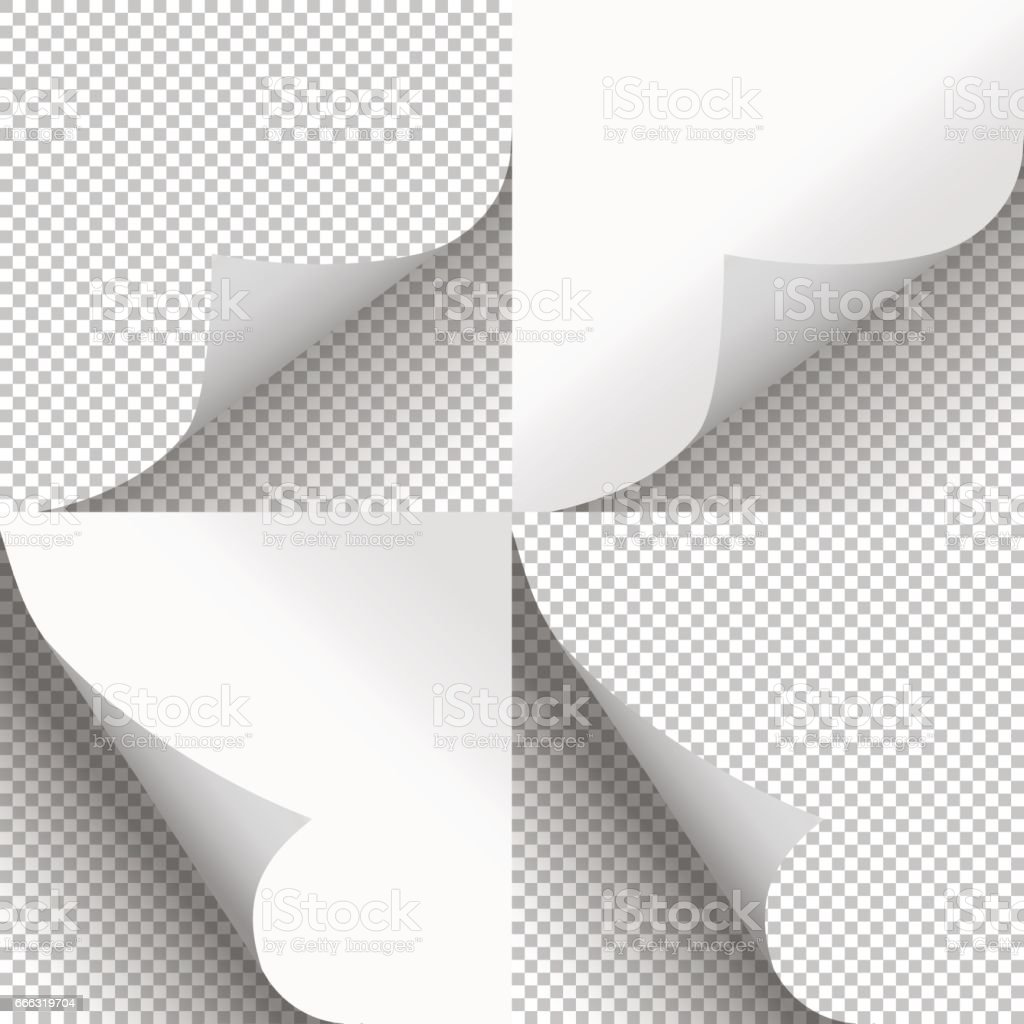Pages curl set stylish illustration vector design vector art illustration