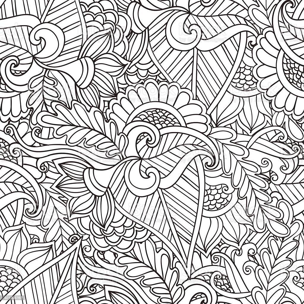 Ilustración de Páginas De Libro Para Colorear Adultos Dibujado A ...