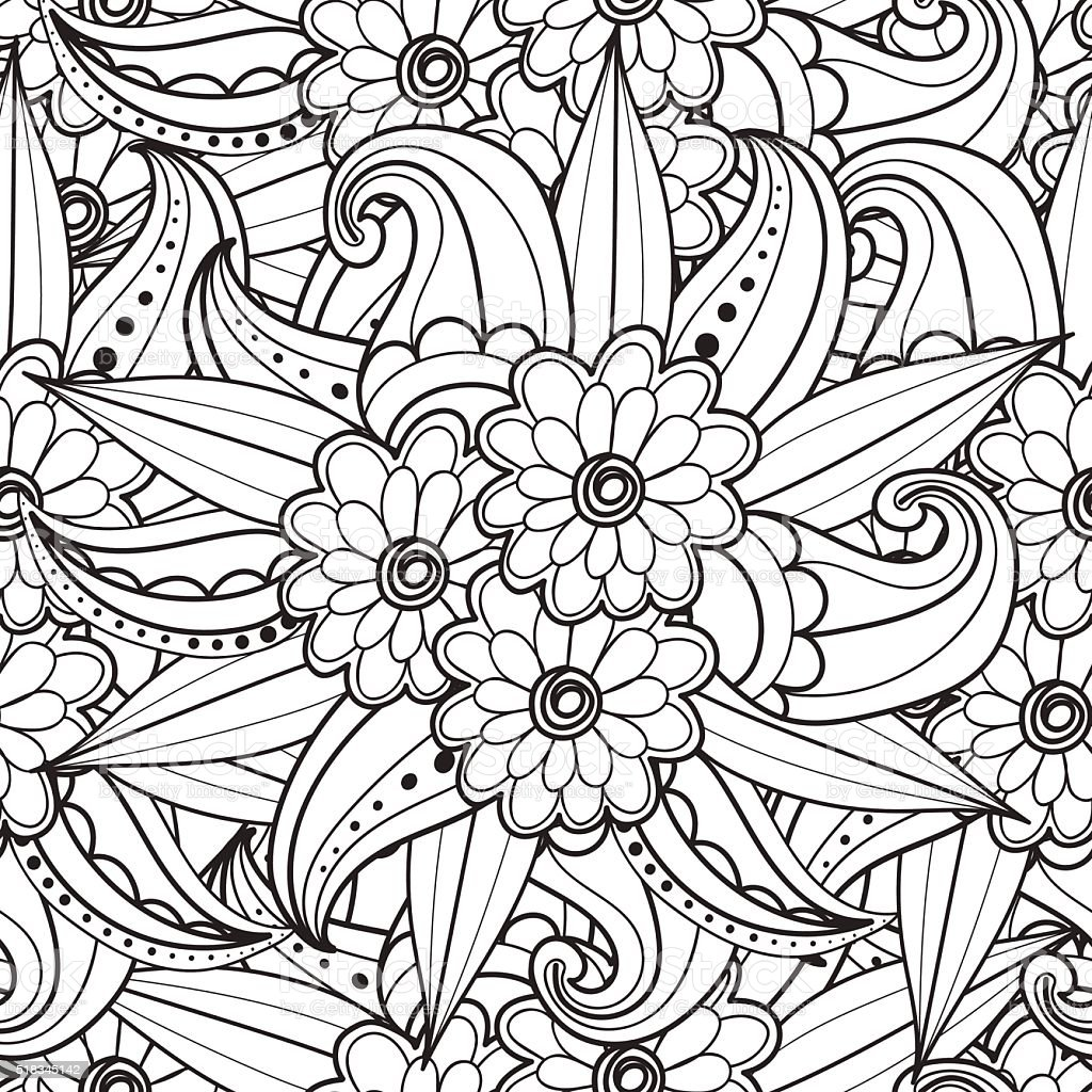 Pages For Adult Coloring Book Stock Illustration - Download ...