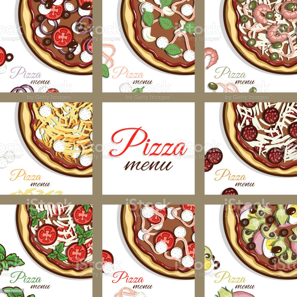 Pages_Of_Menu_Pizza vector art illustration