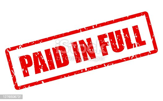istock Paid in full vector stamp 1276506731