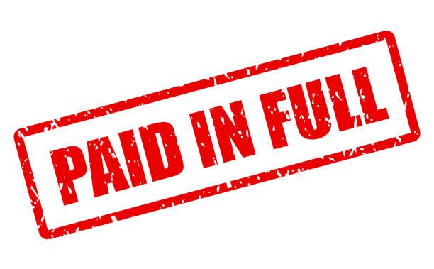 Paid in full vector stamp Paid in full vector stamp isolated on white background full stock illustrations