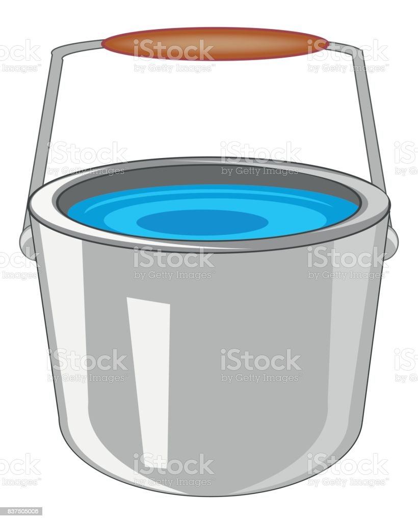 pail with water stock vector art more images of aluminum 837505006