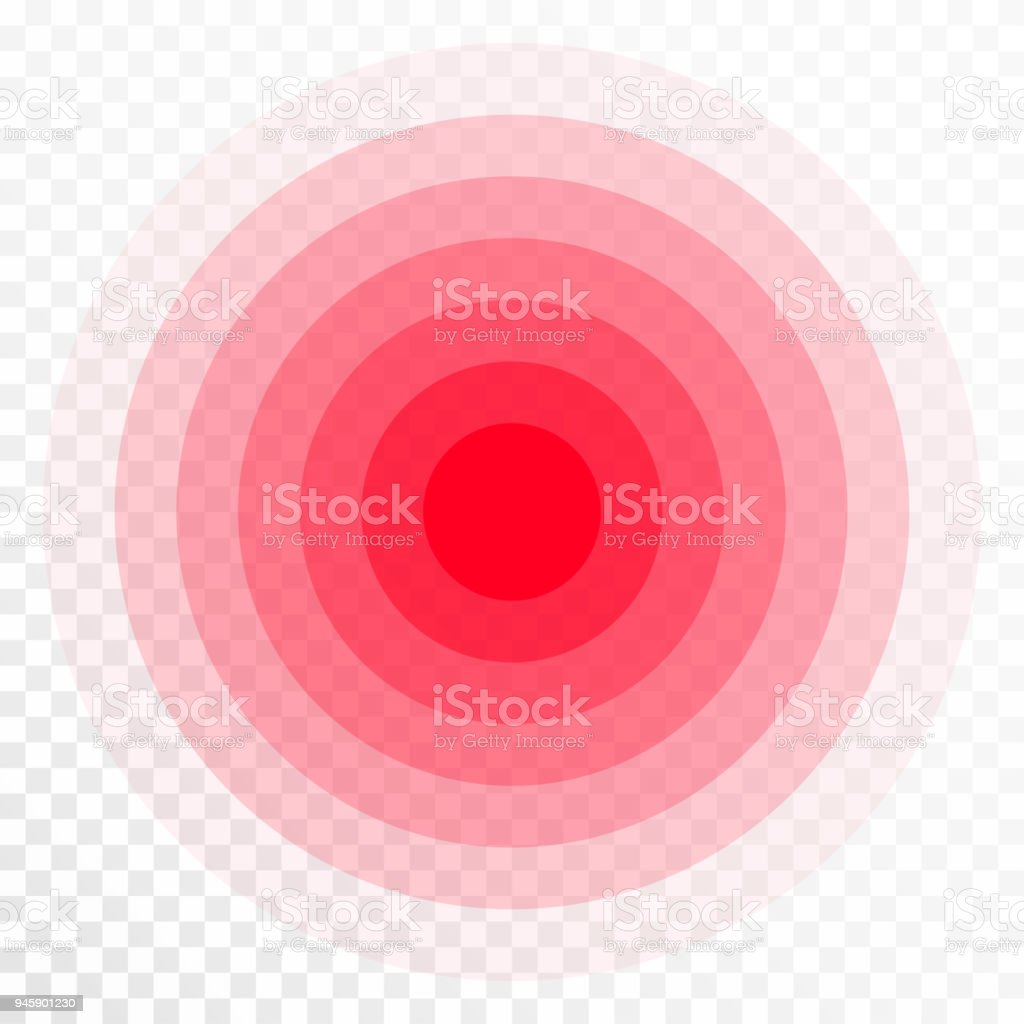 Pain Concentration Icon Red Transparent Circles Symbol Of Pain