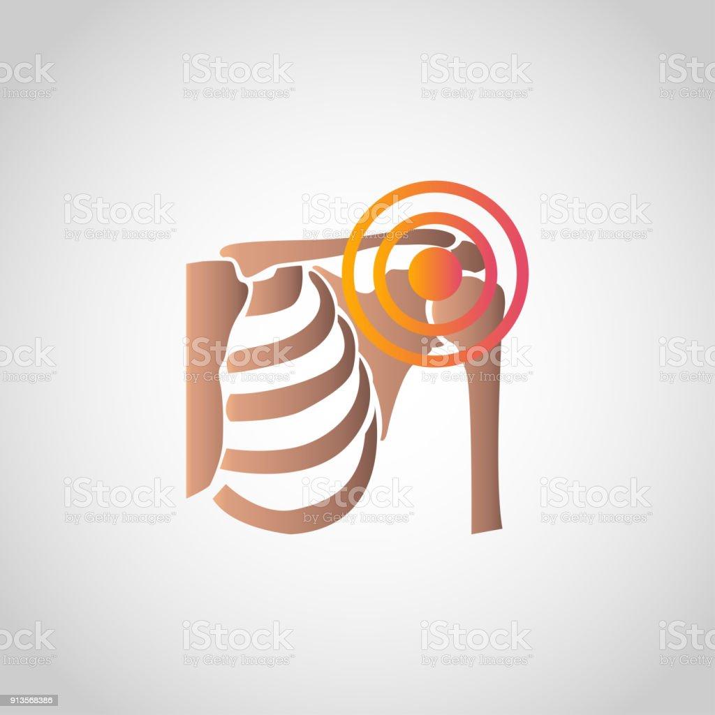Pain Shoulder icon design, infographic health. Vector illustration. vector art illustration