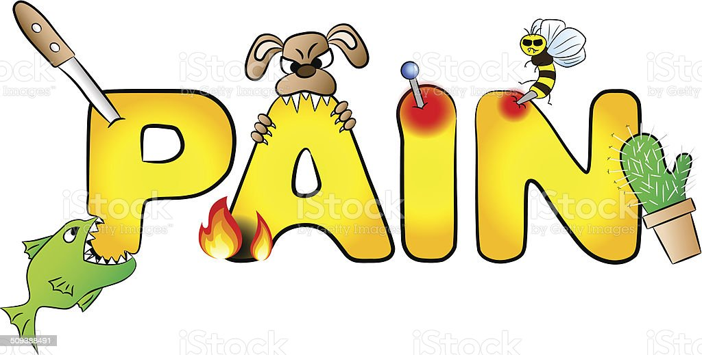 pain with many aches royalty-free stock vector art