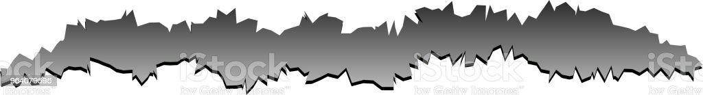 痛みを伴う黒い傷の図 - イラストレーションのロイヤリティフリーベクトルアート