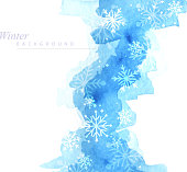 winter snowing painted background