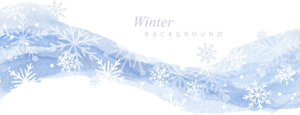paint and snow snowfall winter paint flow background snowdrift stock illustrations