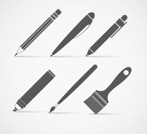 ilustrações de stock, clip art, desenhos animados e ícones de tinta e ferramentas de escrita - caneta