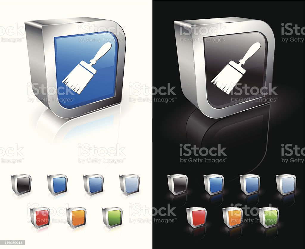 paint brush 3D royalty free vector art royalty-free stock vector art