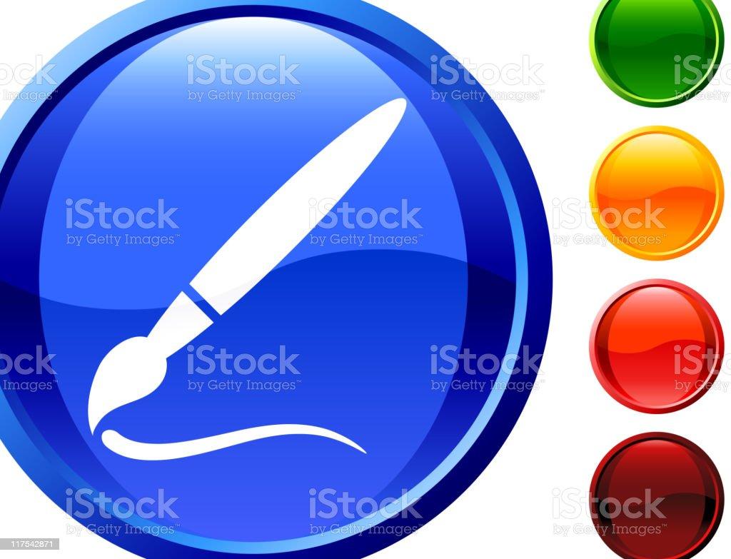 paint brush internet royalty free vector art royalty-free stock vector art