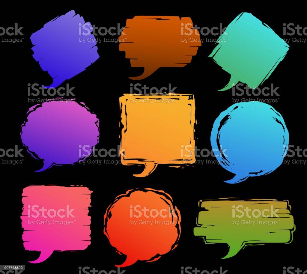 Farbe Pinselstrich Grunge Verzweifelt Strukturierten Text Rahmen ...