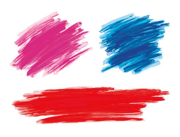 Pinselstrich auf weißer Hintergrundvektordarstellung – Vektorgrafik