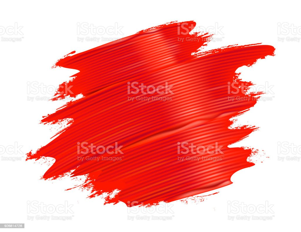 Paint Brush Stroke Texture Red Royalty Free Paint Brush Stroke Texture Red  Stock Vector Art