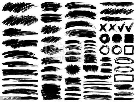 istock Paint brush strokes 1265681851