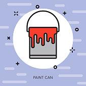 Paint Bucket Graphic Design Thin Line Icon