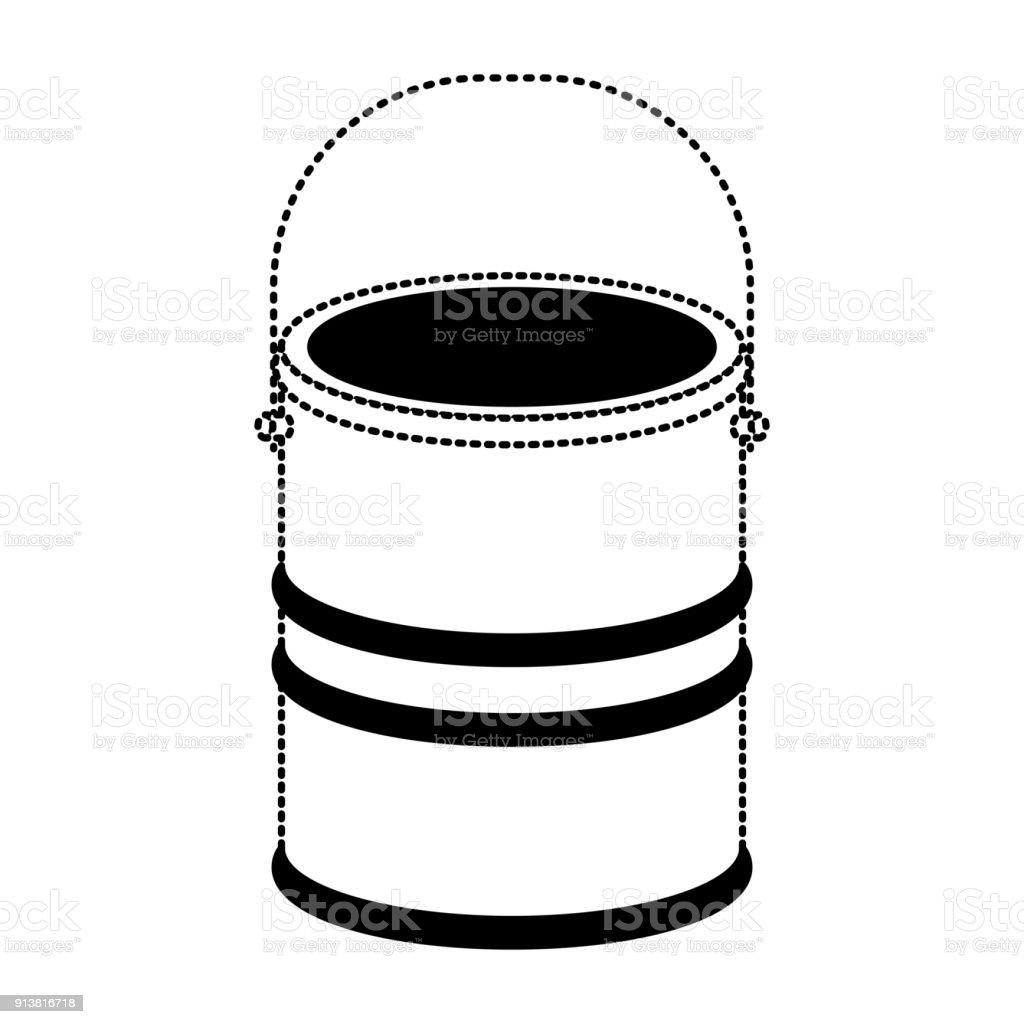 excellent pot de peinture coloriage pictures inspiration. Black Bedroom Furniture Sets. Home Design Ideas