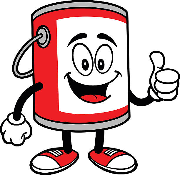 Royalty Free Cartoon Of The Paint Cans Clip Art Vector Images