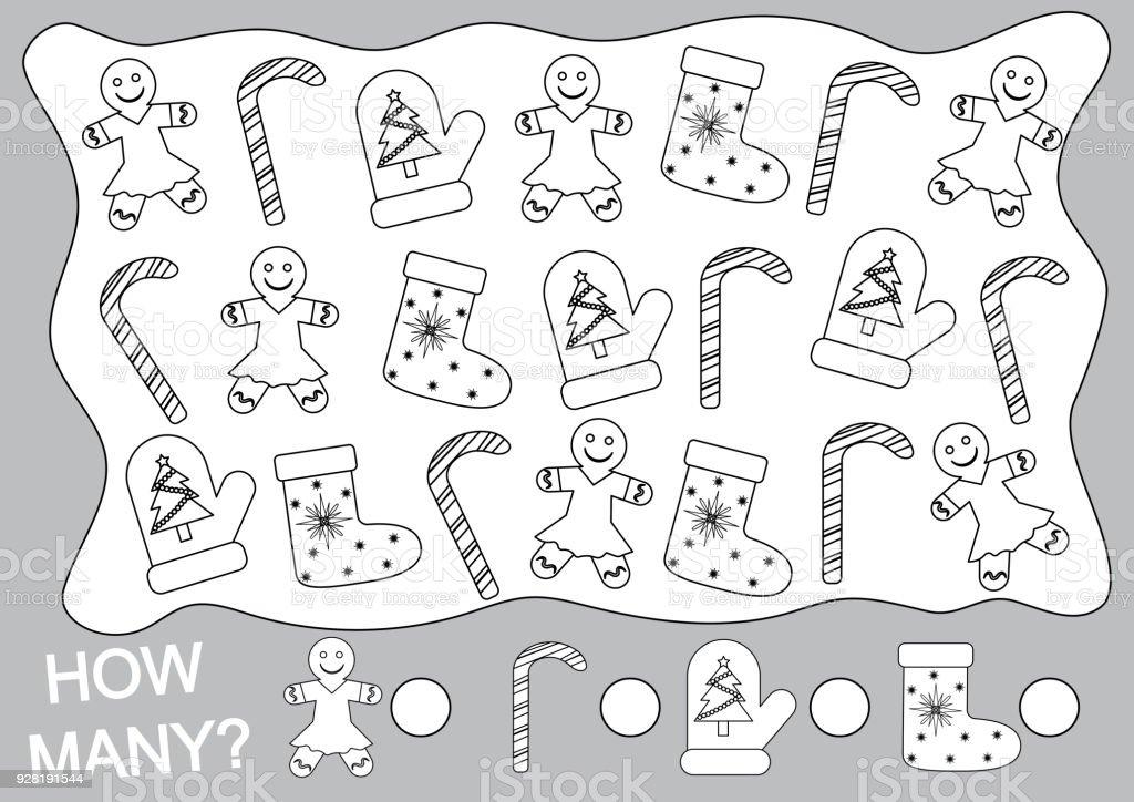 Christmas Nesneleri Boyamak Ve Ne Kadar Say çocuklar Için