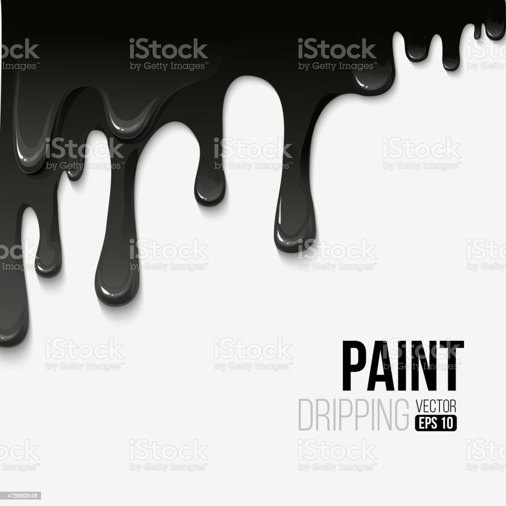 Paint colorful dripping background, vector illustration vector art illustration