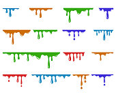Paint dripping vector set , illustration