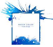 watercolor splatter grunge artistic frame