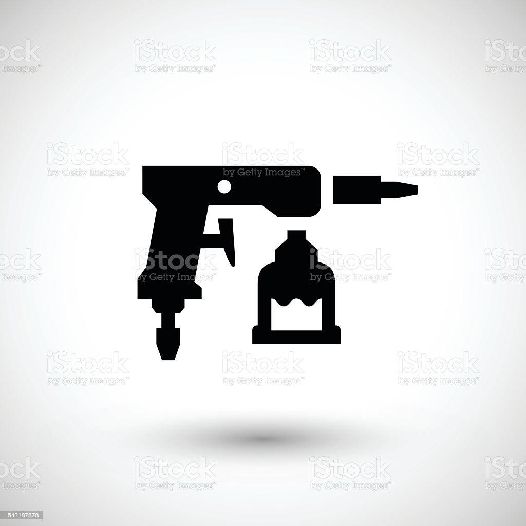 Paint gun icon vector art illustration