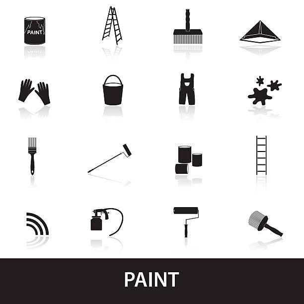 paint icons set eps10 vector art illustration