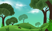 istock Paint illustrations in the wild and natural stock illustration 1304355225