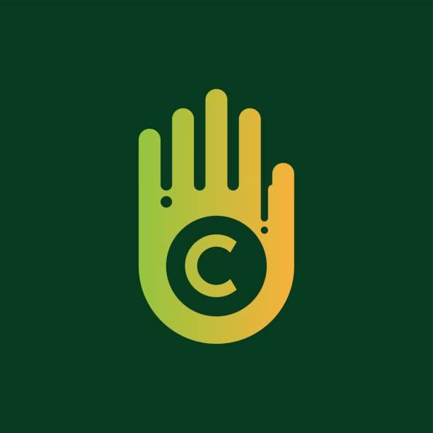 illustrations, cliparts, dessins animés et icônes de conception d'icône peinture initiale lettre c - logo peintre en batiment
