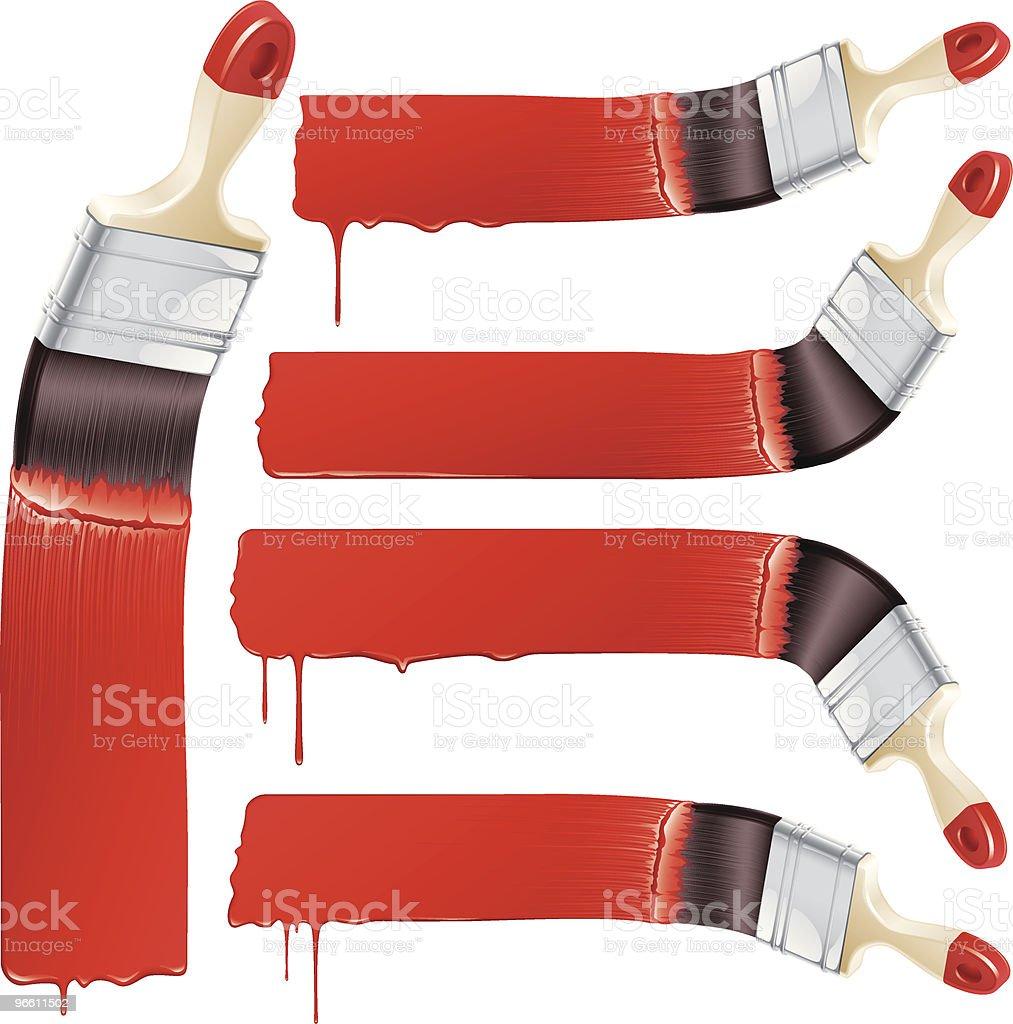 paint it red - Royalty-free Creativiteit vectorkunst