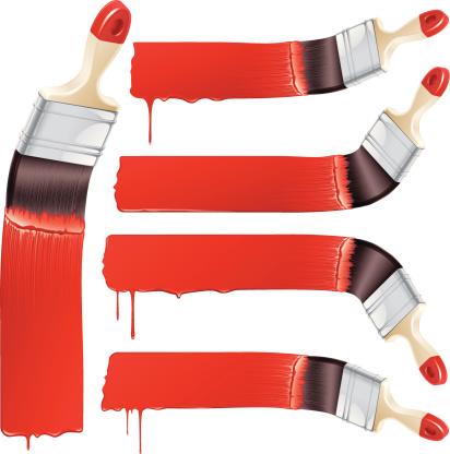 Paint It Red Stockvectorkunst en meer beelden van Creativiteit
