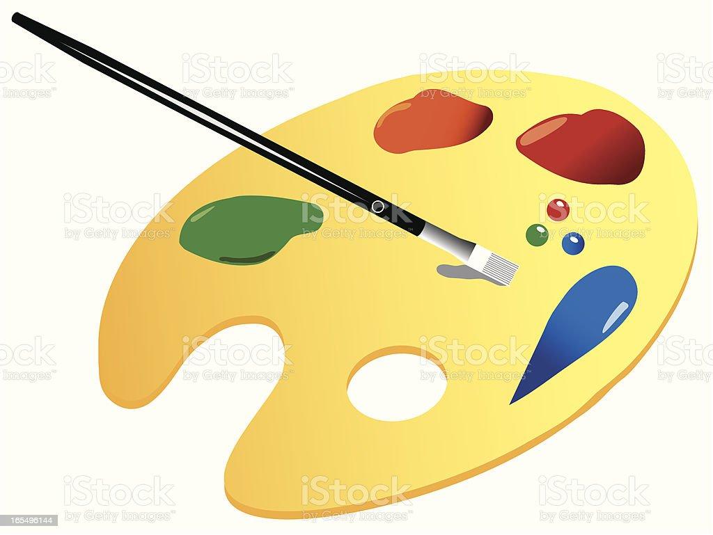 paint palette royalty-free paint palette stock vector art & more images of art