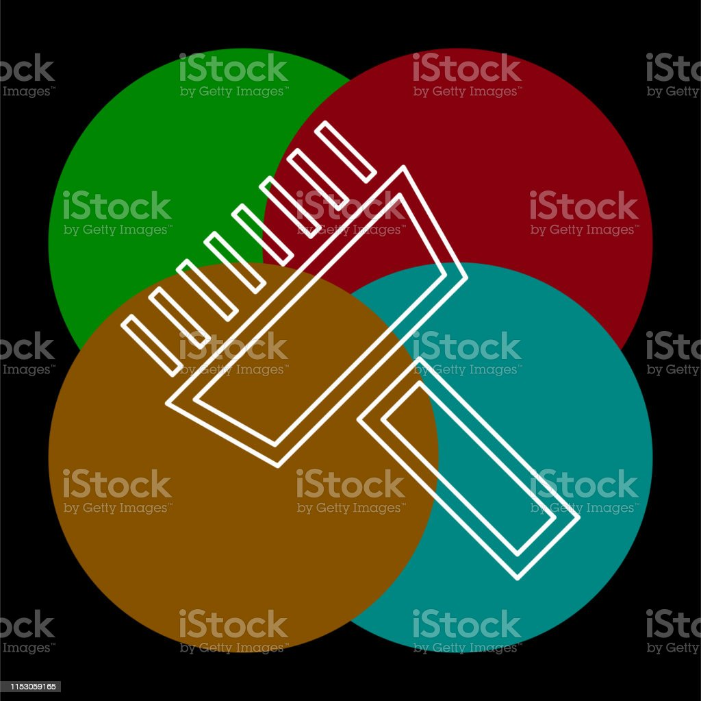 paint roll icon, vector paint brush, wall painter, paint roller. Thin...