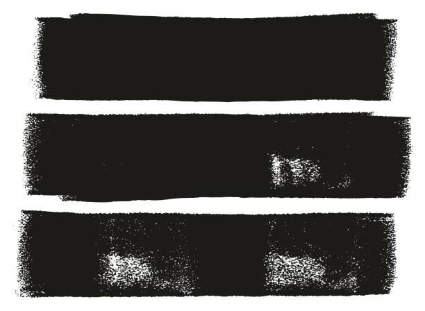 pogrubienie linii wałka do malowania wysokie szczegóły abstrakcyjne linie wektorowe & zestaw tła 03 - erodowany stock illustrations