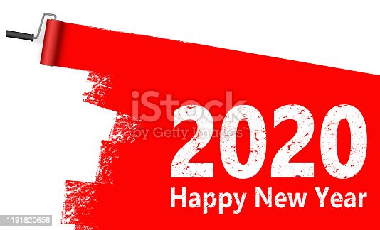 istock paint roller concept New Year 2020 1191820656
