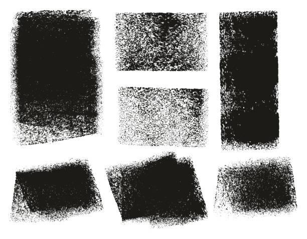 wałek farby szorstkie tła & linie high detail abstrakcyjne linie wektorowe & background mix set 145 - erodowany stock illustrations