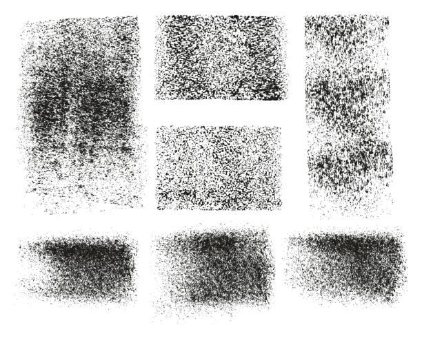 stockillustraties, clipart, cartoons en iconen met verf roller ruwe grunge achtergronden & lijnen hoge abstract vector detailregels & achtergrond mix stel 132 - geërodeerd