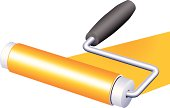 Vector paint roller in three-quarter, isometric view... ready to get the job done!