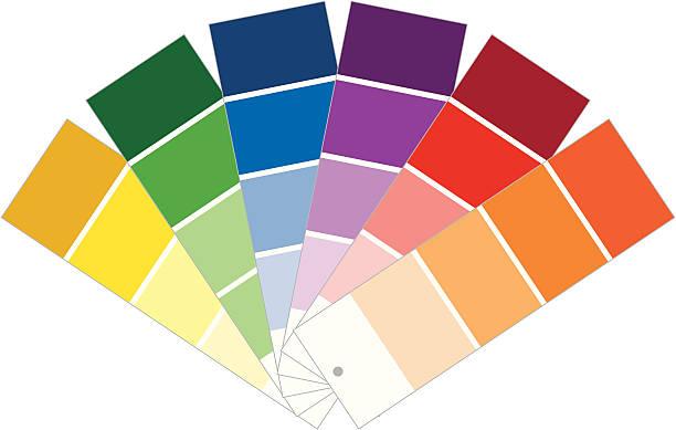 ilustrações, clipart, desenhos animados e ícones de amostras de tinta - amostra de cor