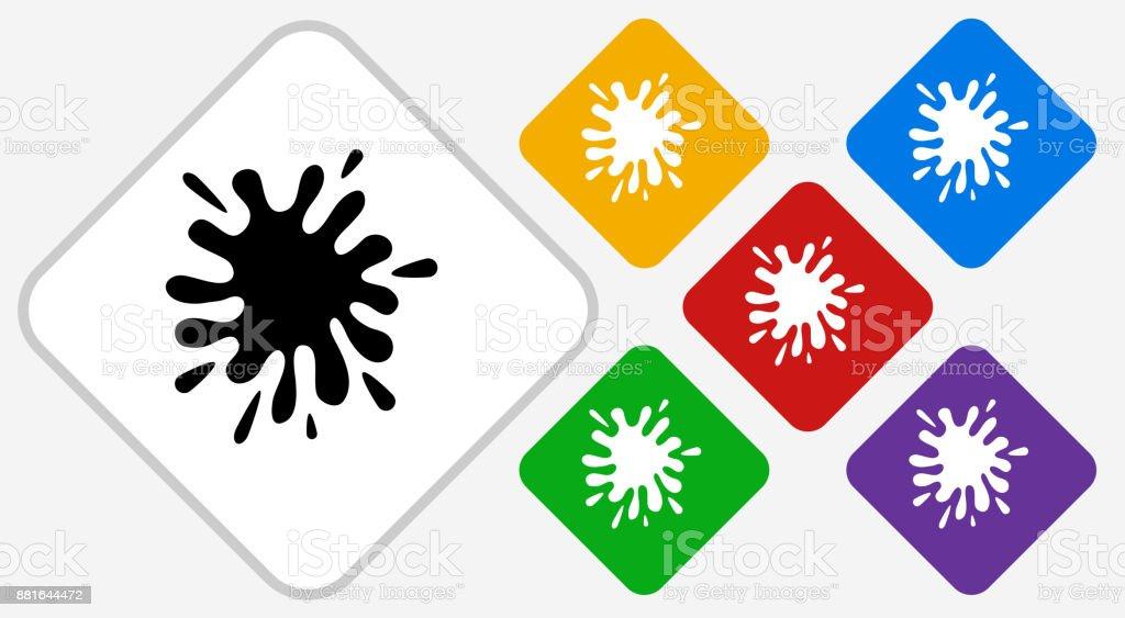 Paint Splash Color Diamond Vector Icon vector art illustration