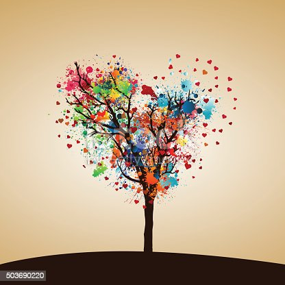 istock Paint splash tree 503690220